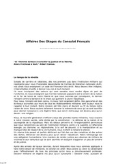 affaires des otages du consulat francais