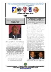 bulletin of the governor and pr august 2011
