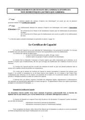 guide certificat capacite
