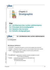 3 stratigraphie