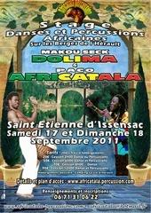 africatala affiche stage saint etienne d issensac 17 09 2011