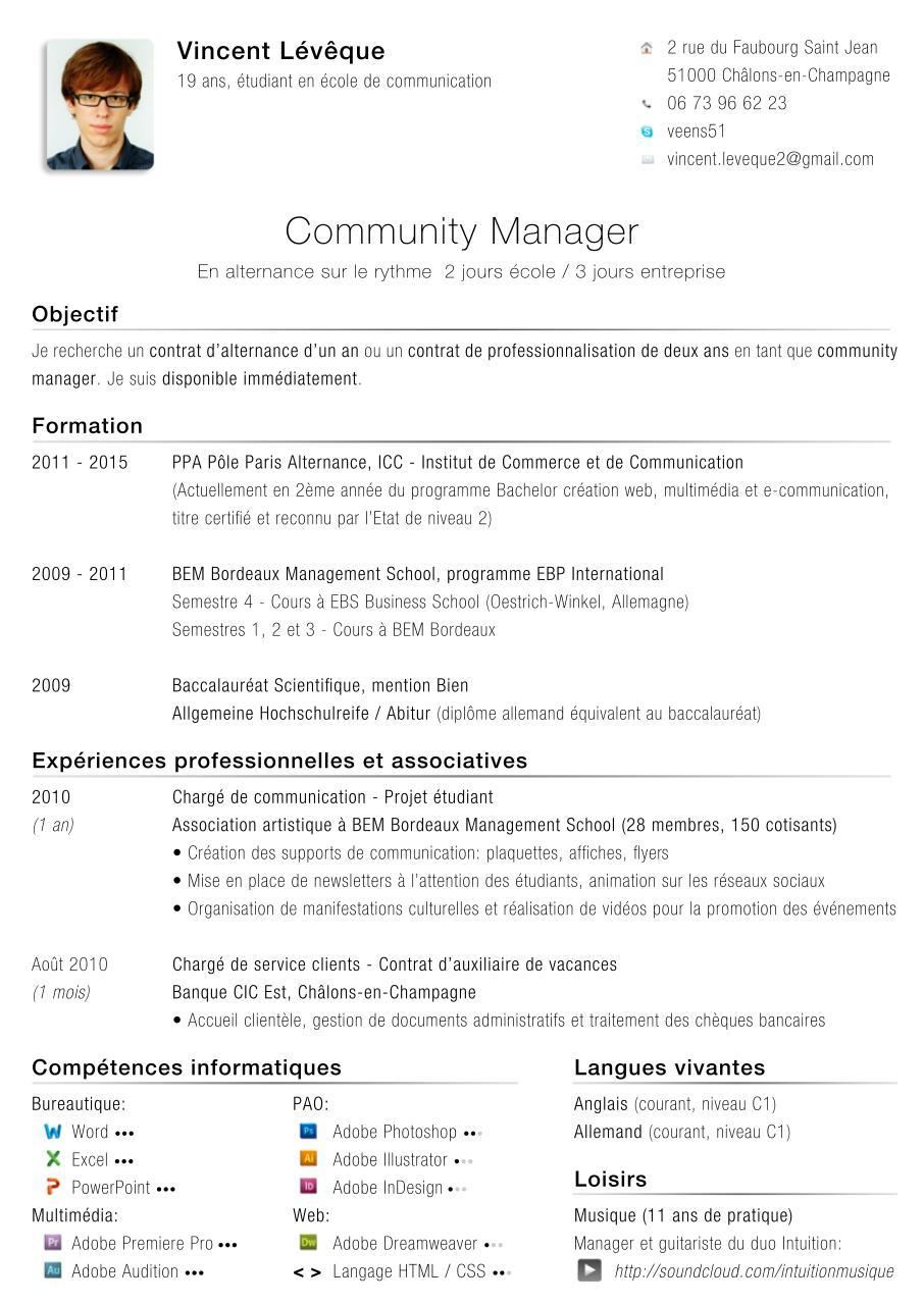 cv vincent leveque alternance communication - Fichier PDF