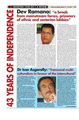 dossier independence dev ramano news on sunday 11 march 2011