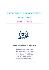catalogue evenementiel blue jam 2005 2011