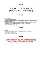 formulaire blog recueil