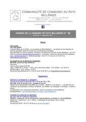 agenda de la semaine en pays bellemois n 88