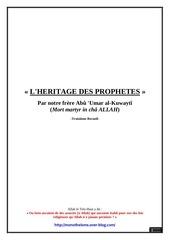 l heritage des prophetes volume 3