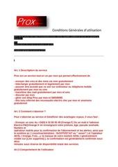 conditions generales d abonnement et d utilisation des services prox