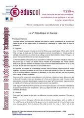 la ve republique en europe
