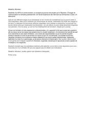 lettre de motivation fl