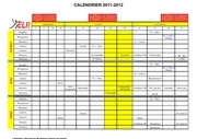 calendrier ligue 2011