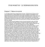 star wars vii le dernier des sith 1