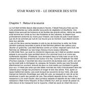 star wars vii le dernier des sith