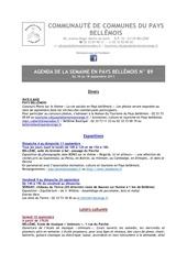 agenda de la semaine en pays bellemois n 89