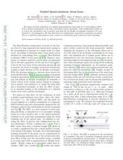 guided quasicontinuous atom laser