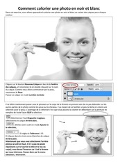 Fichier PDF colorier une photo en noir et blanc