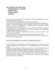 Fichier PDF le contrat de travail