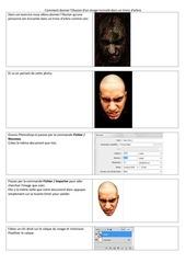 Fichier PDF texture arbre sur visage
