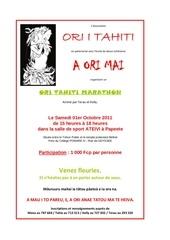 affiche ori tahiti marathon du 01 10 2011