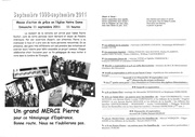 feuille de messe du 11 septembre 2011