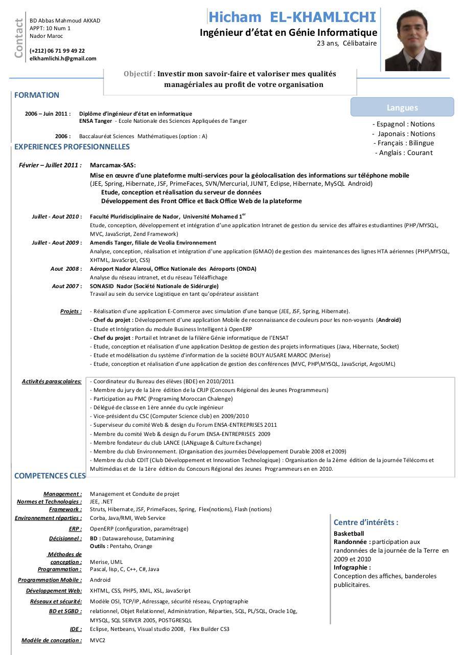 cv-elkhamlichi-hicham pdf par freecv