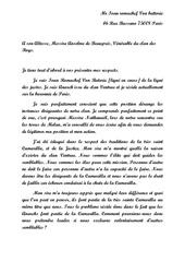 lettre au roi de france