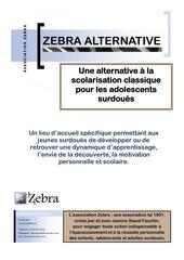 zebra alternative session 2011 2012 1