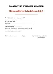 aac renouvellement 2012
