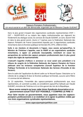 communique filiere spp 15 sept 2011cgt cfdt fafpt