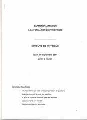 orthoptie bordeaux 2011 physique page 1