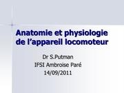 anatomie et physiologie de l appareil locomoteur