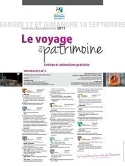 actu journee patrimoine affiche2011
