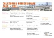 calendrier universitaire 2010 2011 sauf ufr staps ufr sitec et iut de ville d avray