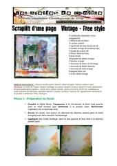 tuto scraplift free style et vintage