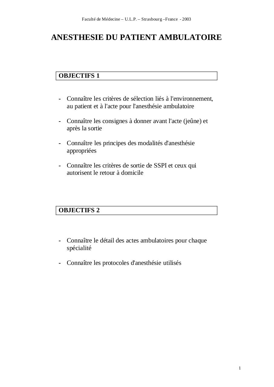 Aperçu du document ANESTHESIE DU PATIENT AMBULATOIRE.pdf - page 1/7