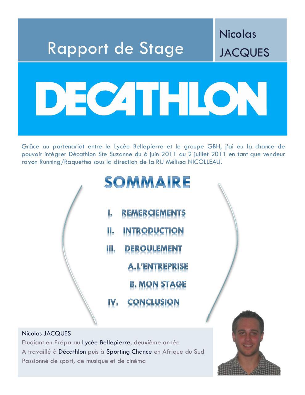 Document2 Par Nicolas Jacques Rapport Decathlon Pdf