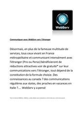 communiquer avec webserv vers l etranger