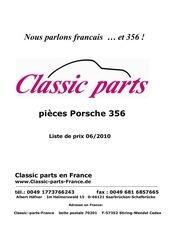 tarifs classic parts