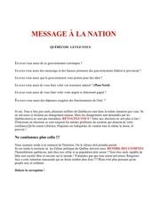 message a la nation 2