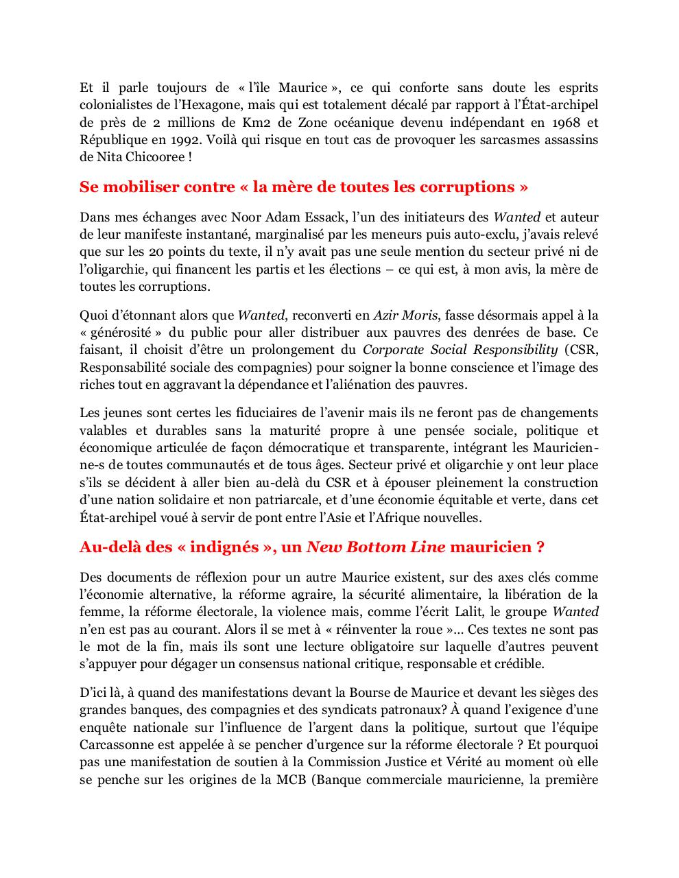 Des Wanted mauriciens au New Bottom Line etatsunien, amended MTimes-art-23092011.pdf - page 3/4
