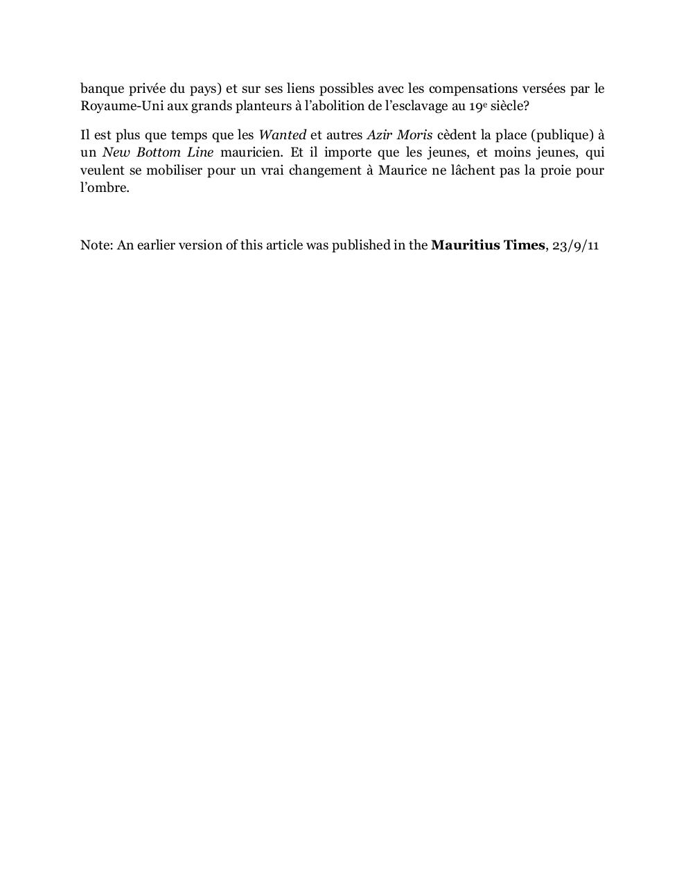 Des Wanted mauriciens au New Bottom Line etatsunien, amended MTimes-art-23092011.pdf - page 4/4