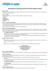 concours imagesetneige reglement2012