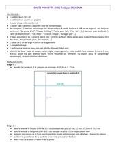 Fichier PDF carte pochette avec tag par creacam