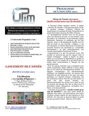 programme upim oct nov dec 2011