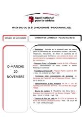 programme 19 20 novembre