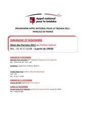 programme tsedaka 2011 paris idf et regions