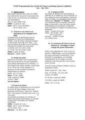 programmation novembre decembre 2011 2011