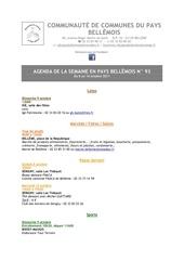 agenda de la semaine en pays bellemois n 93