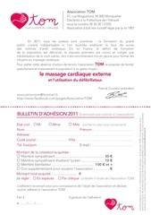 bulletin d adhesion association tom