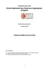 chimie en solution